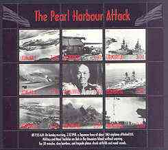 Udmurtia Republic 2001 Pearl Harbour Attack perf sheetlet #01 containing complete set of 9 values unmounted mint