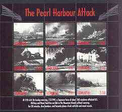 Udmurtia Republic 2001 Pearl Harbour Attack perf sheetlet #02 containing complete set of 9 values unmounted mint