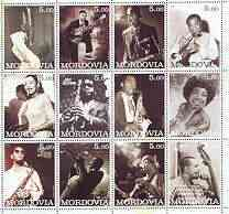 Mordovia Republic 2001 Jazz & Blues Stars perf sheetlet containing complete set of 12 values unmounted mint