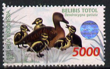 Indonesia 1998 Waterfowl (1st series) 5,000r Spotted Whistling Duck fine commercially used, SG 2445