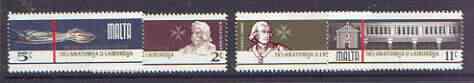 Malta 1976 300th Anniversary of School of Anatomy & Surgery set of 4 unmounted mint, SG 564-567