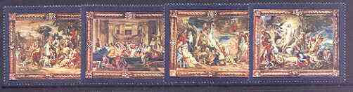 Malta 1978 400th Birth Anniversary of Rubens - Flemish Tapestries (2nd series) set of 4 unmounted mint, SG 592-95