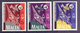 Malta 1970 25th Anniversary of United Nations set of 3 unmounted mint, SG 441-43