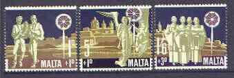Malta 1969 Christmas Children's Welfare Fund set of 3 unmounted mint SG 427-29*