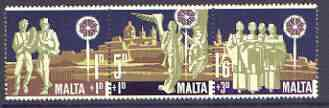 Malta 1969 Christmas Children's Welfare Fund se-tenant set of 3, unmounted mint SG 427b