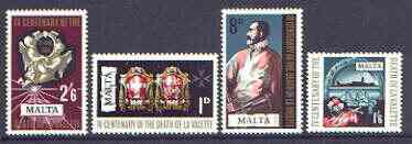 Malta 1968 4th Death Centenary of Grand Master La Valette set of 4 unmounted mint, SG 405-408