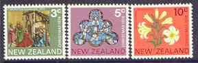 New Zealand 1974 Christmas set of 3 unmounted mint SG 1058-1060
