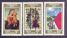 New Zealand 1973 Christmas set of 3 unmounted mint SG 1034-1036