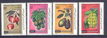 Comoro Islands 1979 Fruit set of four unmounted mint, SG 375-378