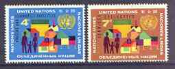 United Nations (NY) 1962 Housing & Related Community Facilities set of 2 unmounted mint, SG 108-109*