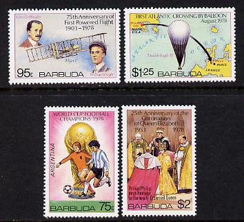 Barbuda 1978 Anniversaries & Events set of 4 unmounted mint, SG 442-5