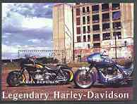 Sakha (Yakutia) Republic 2001 Harley Davidson Legendary Motorcycles perf m/sheet unmounted mint