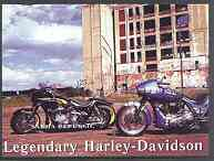 Sakha (Yakutia) Republic 2001 Harley Davidson Legendary Motorcycles imperf m/sheet unmounted mint
