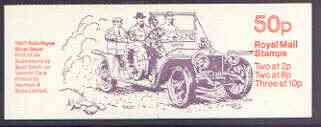 Booklet - Great Britain 1979-81 Veteran Cars #1 (1907 Rolls-Royce) 50p booklet complete, SG FB10
