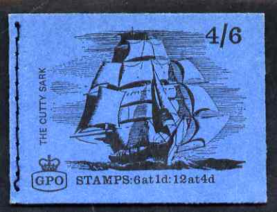 Booklet - Great Britain 1968-70 Ships - Cutty Sark 4s6d booklet (July 1968) complete and fine SG LP46