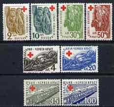 Bulgaria 1947 Red Cross (2nd Issue) set of 8 unmounted mint, SG 645d-k