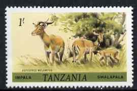 Tanzania 1980 Impala 1s (from Animals def set) unmounted mint SG 313*