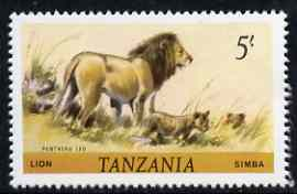Tanzania 1980 Lion 5s (from Animals def set) unmounted mint SG 317*