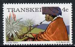 Transkei 1976-83 Matron (smoking) 4c (perf 14) from def set unmounted mint, SG 4a