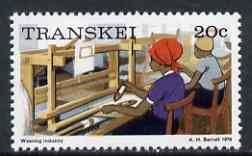 Transkei 1976-83 Weaving 20c (perf 14) from def set unmounted mint, SG 12a