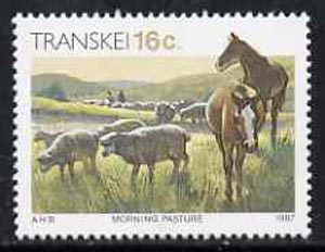 Transkei 1984-91 Morning Pasture 16c from def set unmounted mint SG 149a