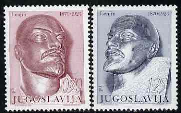 Yugoslavia 1970 Birth Centenary of Lenin set of 2 unmounted mint, SG 1421-22