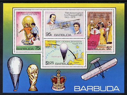 Barbuda 1978 Anniversaries & Events imperf m/sheet unmounted mint, SG MS 446