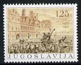 Yugoslavia 1971 Centenary of the Paris Cummune unmounted mint, SG 1453