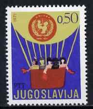Yugoslavia 1971 Children's Week & UN Children's Fund (Blloon) unmounted mint SG 1494*