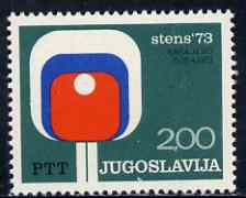 Yugoslavia 1973 World Table Tennis Championships unmounted mint, SG 1551*