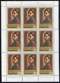 Yugoslavia 1973 Nadezda Petrovic (painter) in sheetlet of 9 unmounted mint, SG 1569