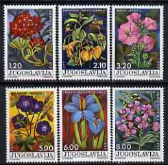 Yugoslavia 1975 National Youth Day - Flowers perf set of 6 unmounted mint, SG 1685-90