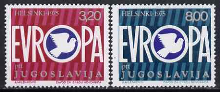 Yugoslavia 1975 European Security Conference set of 2 unmounted mint, SG 1703-04*