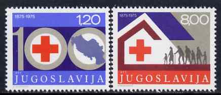 Yugoslavia 1975 Red Cross Centenary set of 2 unmounted mint, SG 1705-06*