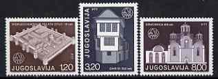 Yugoslavia 1975 European Architectural Heritage Year set of 3 unmounted mint, SG 1713-15*