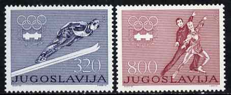 Yugoslavia 1976 Innsbruck Winter Olympics set of 2 unmounted mint, SG 1716-17*