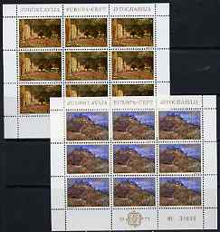 Yugoslavia 1977 Europa (Landscapes) set of 2 each in sheetlets of 9 unmounted mint, SG 1767-68