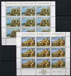 Yugoslavia 1978 Europa (Buildings) set of 2 each in sheetlets of 9 unmounted mint, SG 1811-12