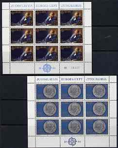 Yugoslavia 1980 Europa (Pres Tito) set of 2 each in sheetlets of 9 unmounted mint, SG 1922-23