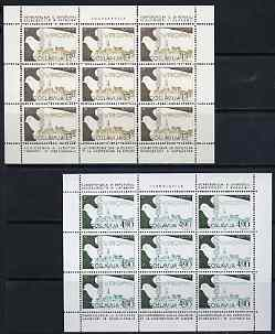 Yugoslavia 1980 European Security set of 2 each in sheetlets of 9 unmounted mint, SG 1954-55