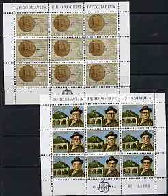 Yugoslavia 1983 Europa (Nobel Prize) set of 2 each in sheetlets of 9 unmounted mint, SG 2075-76