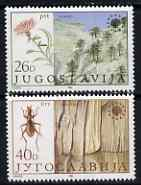 Yugoslavia 1984 Nature Protection set of 2 unmounted mint, SG 2150-51