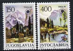 Yugoslavia 1987 Nature Protection (Triglav Nat Park) set of 2 unmounted mint, SG 2360-61