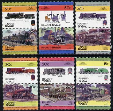 Tuvalu - Funafuti 1984 Locomotives #1 (Leaders of the World) set of 12 opt