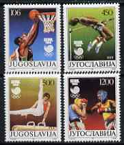 Yugoslavia 1988 Seoul Olympic Games set of 4 unmounted mint, SG 2437-40