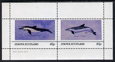 Staffa 1982 Dolphins perf set of 2 values (40p & 60p) unmounted mint