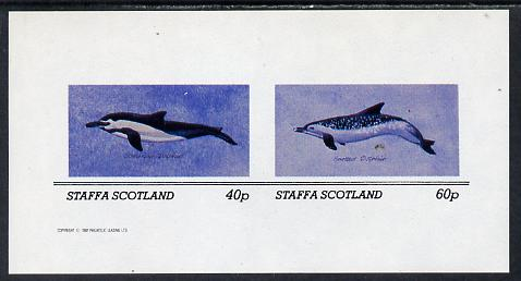 Staffa 1982 Dolphins imperf set of 2 values (40p & 60p) unmounted mint