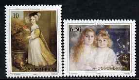 Yugoslavia 1990 22nd Joy of Europe (Paintings of Children) set of 2 unmounted mint, SG 2658-59