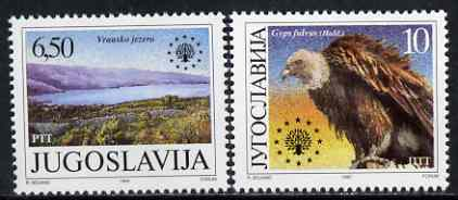 Yugoslavia 1990 Nature Protection set of 2 unmounted mint, SG 2668-69