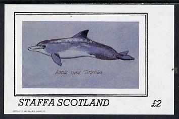 Staffa 1982 Dolphins imperf deluxe sheet (�2 value) unmounted mint